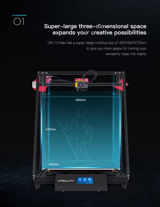 RCPlanet osta 3D-printer Creality CR-10 Max Tallinnas